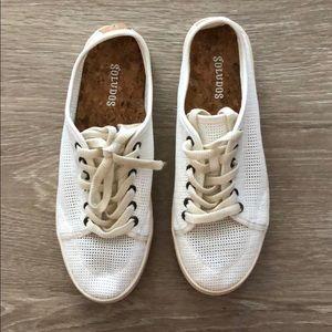 Soludos Mesh White Sneakers